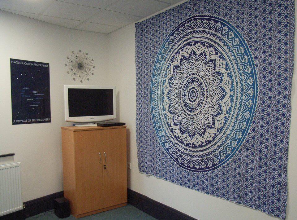 Blackburn Safe Reiki peace education programme corner