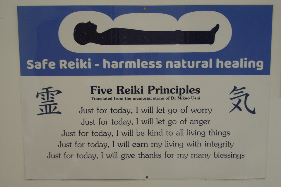 Is Reiki safe? Dr Mikao Usui, the founder of Reiki, left us these five principles. Reiki doesn't work right without them. Reiki is very safe.