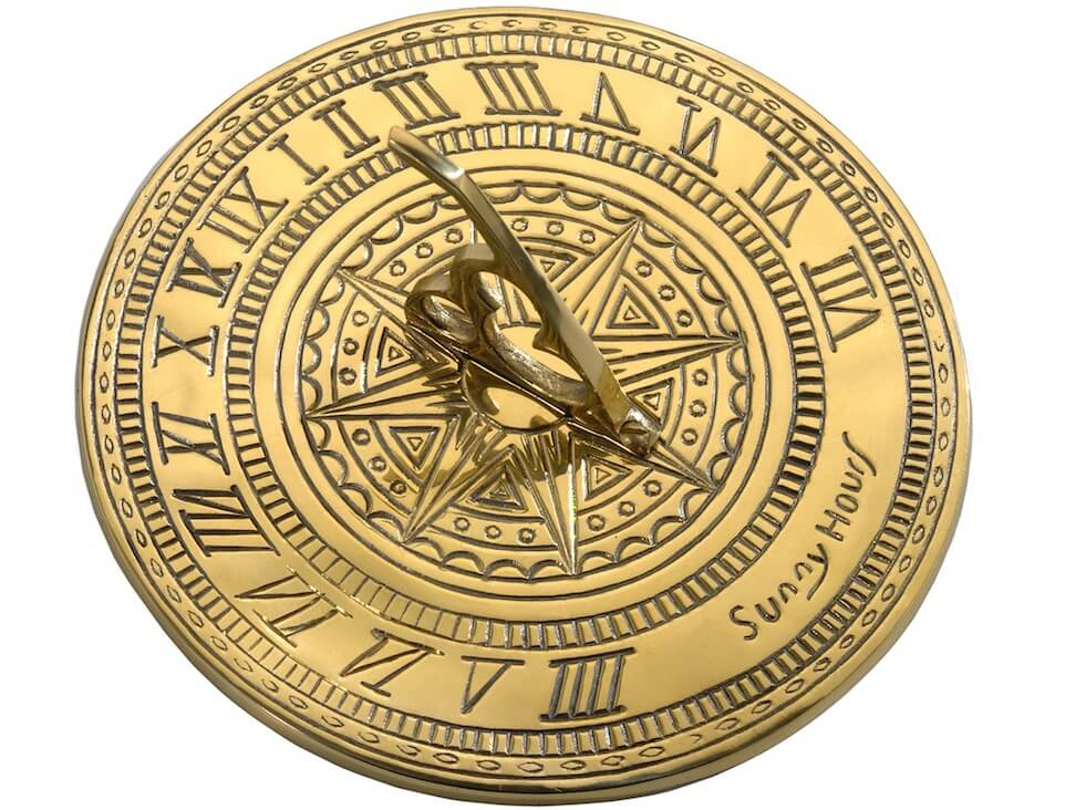 A sundial never tells the past time or future time